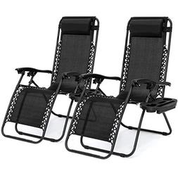 Best Choice Products Set of 2 Adjustable Zero Gravity Lounge